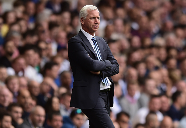 Alan Pardew could only watch and pray against Spurs after he lost two of his key players to transfers earlier in the week. (Photo by Alex Broadway/Getty Images)