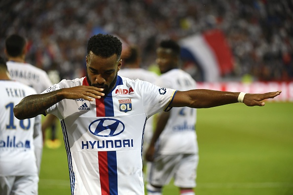 No he did NOT! He did  not  just dab...In all fairness, he is Lyon's best chance at challenging PSG for the Ligue 1 title. (Photo by Philippe Desmazes/AFP/Getty Images)