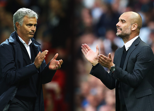 The hype may be unreal, but if ever there were two men with enough quality to justify it, Guardiola and Mourinho is on the top of the pile. (Photo via Getty Images)
