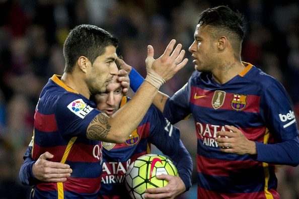 The MSN are in their usual business mode ahead of this game. (Photo via Getty Images)