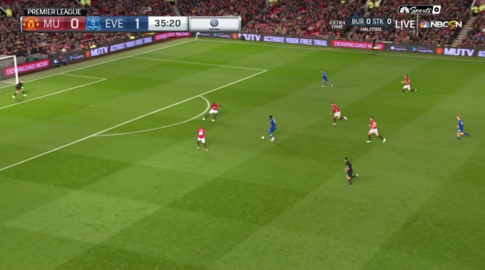 Everton's opportunity in the 35th minute.