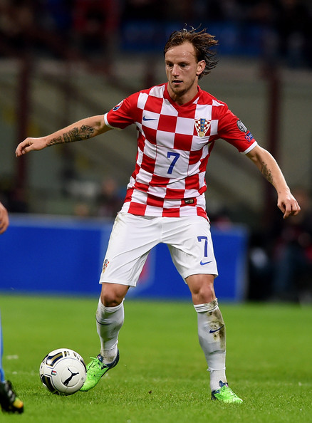 Ivan Rakitic was disappointing in the Croatian midfield. (Photo via Getty Images)