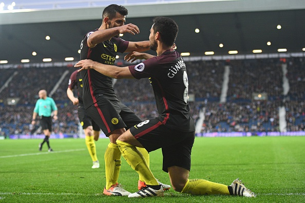 Gundogan and Aguero were phenomenal in City's win against West Brom. (Photo by Justin TALLIS/AFP/Getty Images)