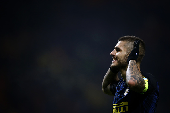 Mauro Icardi will be the man to go for Inter. He has 10 goals in 12 apps so far this season. (Photo by MARCO BERTORELLO/AFP/Getty Images)