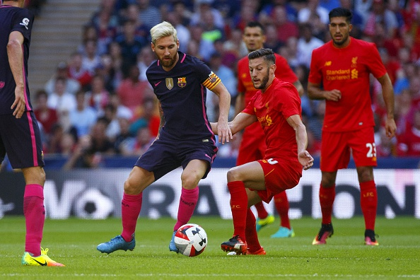 Is Lallana's influence over Liverpool the same as Lionel Messi's over Barcelona? (Photo by Tolga Akmen/Anadolu Agency/Getty Images)