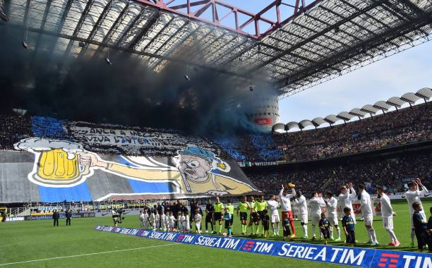 The San Siro in all its glory. (Photo by Giuseppe Cacace/AFP/Getty Images)