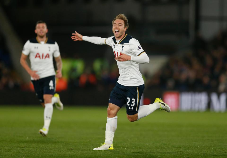 Eriksen's sweet strike snatched all 3 points for Spurs against Palace mid-week. Can the Dane do it again on Sunday? (Photo via Reuters)