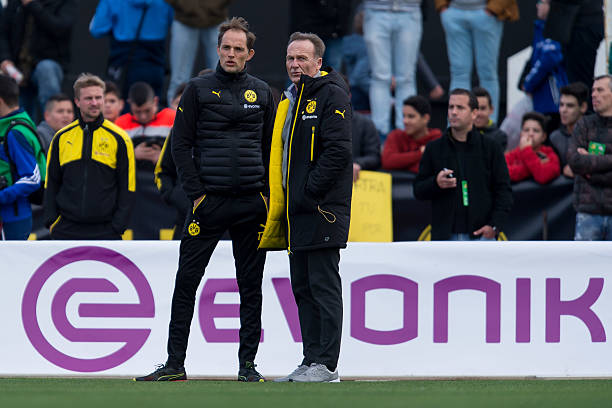 Tuchel and Watzke had a disagreement about when the match should be rescheduled after the Dortmund terror incident. (Photo via Getty Images)