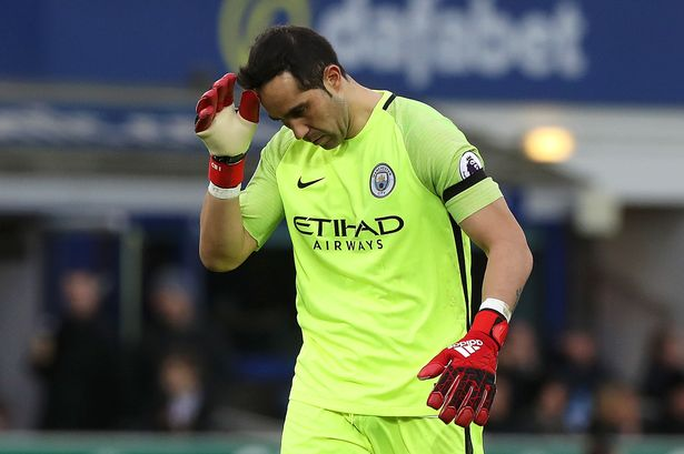 Claudio Bravo's Copa America success with Chile did not carry over to the Premier League season. (Photo via Getty Images)