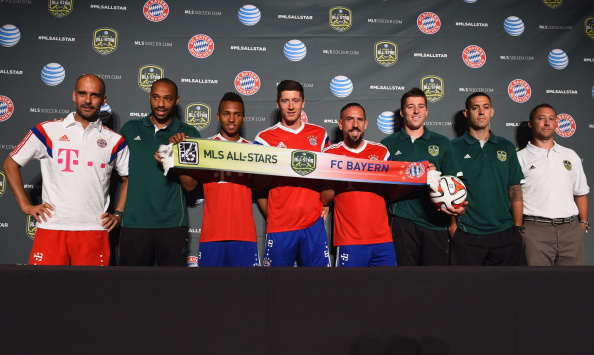 Bayern Munich played against the MLS All-Stars in the summer of 2014. They surprisingly lost.  (Photo by Lars Baron/Bongarts/Getty Images)