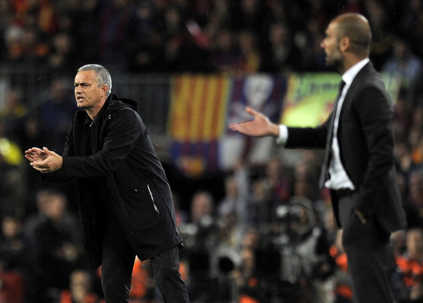 The Mou vs. Pep rivalry has always propelled them both to their very best, and it probably won't change in 2016/17. (Photo credit should read LLUIS GENE/AFP/Getty Images)