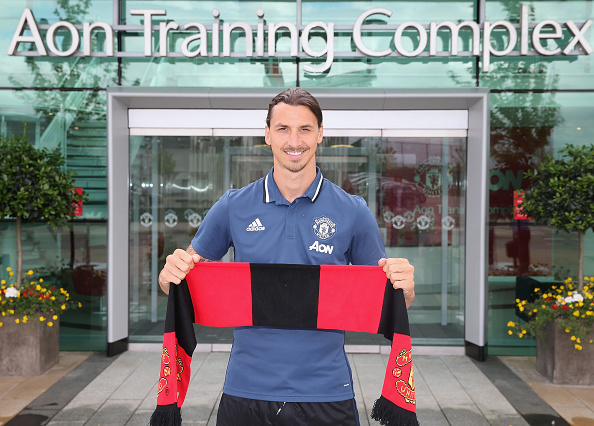Zlatan Ibrahimovic signed for Manchester United, in the end, ending months of speculation as to his next destination. (Photo by John Peters/Man Utd via Getty Images)