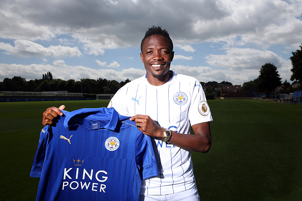 """Ahmed Musa calls himself """"like Jamie Vardy"""", and it's actually a better description than any we could suggest to you. (Photo by Plumb Images/Leicester City FC via Getty Images)"""