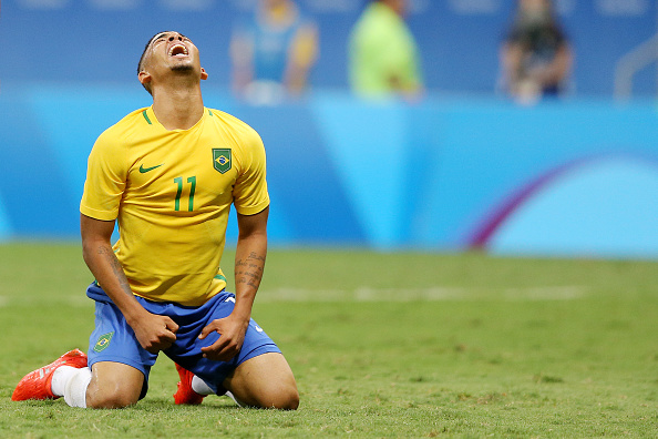 Gabriel Jesus has been the worst of the attacking trio of Brazil, which also includes Neymar and Gabigol. (Photo Celso Junior/Getty Images)