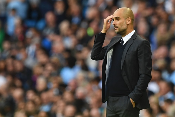 Pep Guardiola's first game in-charge of City made it clear that he needs time. (Photo by Paul Ellis/AFP/Getty Images)