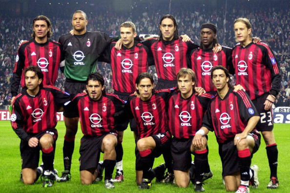 AC Milan when it still had champions. (Photo by Christof Koepsel/Bongarts/Getty Images)