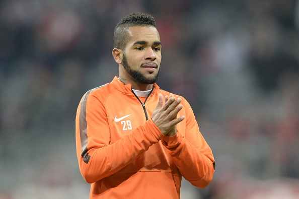 Shakhtar Donetsk's Brazilian midfielder Alex Teixeira warms up prior to the UEFA Champions League second-leg, Round of 16 football match FC Bayern Munich vs Shakhtar Donetsk in Munich, southern Germany, on March 11, 2015. AFP PHOTO / CHRISTOF STACHE (Photo credit should read CHRISTOF STACHE/AFP/Getty Images)