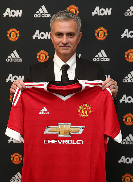 Jose Mourinho is unveiled as the new Manchester United Manager on May 26, 2016 in London, England. (Photo by John Peters/Man Utd via Getty Images)