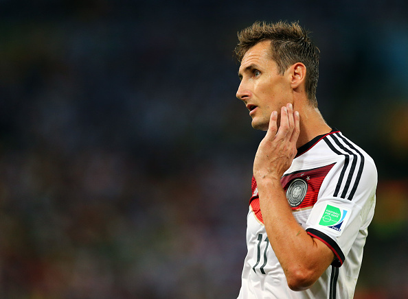 Incidentally, this isn't the first time Low has tried playing without a striker in a major tournament--Klose will testify. (Photo by AMA/Corbis via Getty Images)