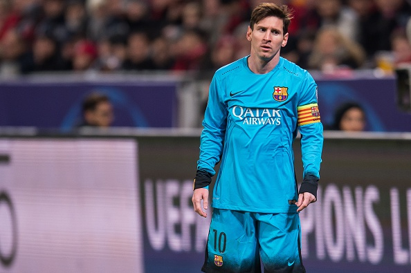 Lionel Andres Messi of FC Barcelona during the UEFA Champions League match between Bayer 04 Leverkusen and FC Barcelona on December 9, 2015 at the BayArena in Leverkusen, Germany.(Photo by VI Images via Getty Images)