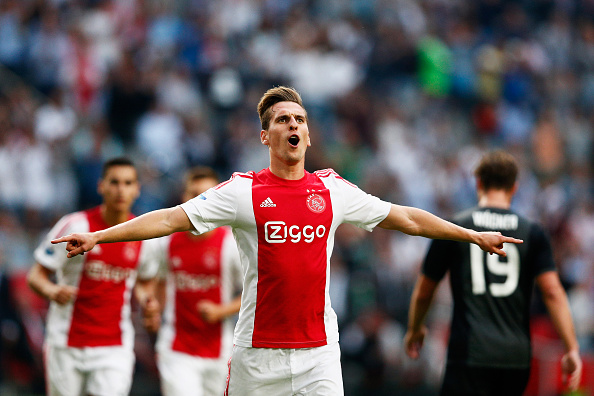 Former Ajax forward Arkadiusz Milik is expected to take up the goalscoring burdens at SSC Napoli. All aboard! (Photo by Dean Mouhtaropoulos/Getty Images)