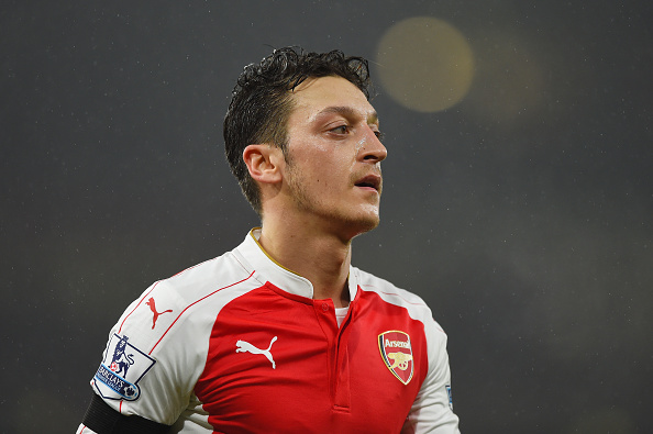 Ozil during the Barclays Premier League match between Arsenal and Newcastle United at Emirates Stadium on January 2, 2016 in London, England.