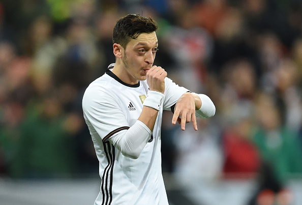 Germany's Ozil scored the opener in the game vs. Italy. (Photo by CHRISTOF STACHE/AFP/Getty Images)