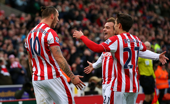 Stoke's attacking trident have sparked a new way to football for the club. (Photo by Alex Livesey/Getty Images)