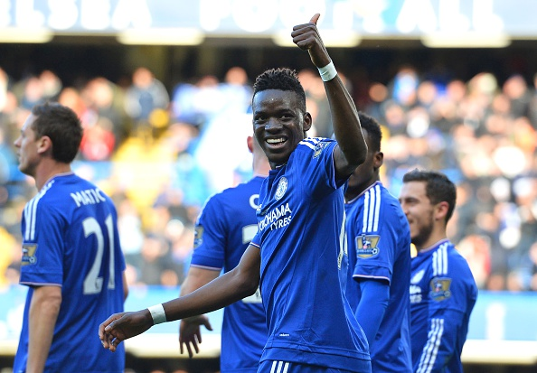 Bertrand Traore of Chelsea celebrates his goal for Chelsea. (GLYN KIRK/AFP/Getty Images)