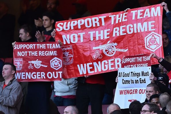 Arsene Wenger continues to ignore the fans' wishes for him to leave the club.(Photo credit BEN STANSALL/AFP/Getty Images)