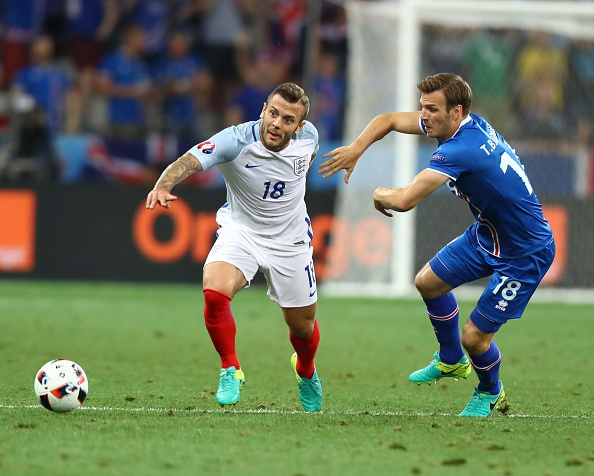 Hodgson thought it was cute to pick Wilshere, who didn't play the full 90 mins for 2 years prior to the tournament, instead of Danny Drinkwater, who perhaps had the best season amongst all English midfielders. (Photo by Evrim Aydin/Anadolu Agency/Getty Images)